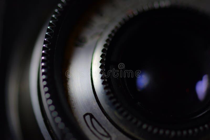 Uitstekende cameralens royalty-vrije stock afbeelding