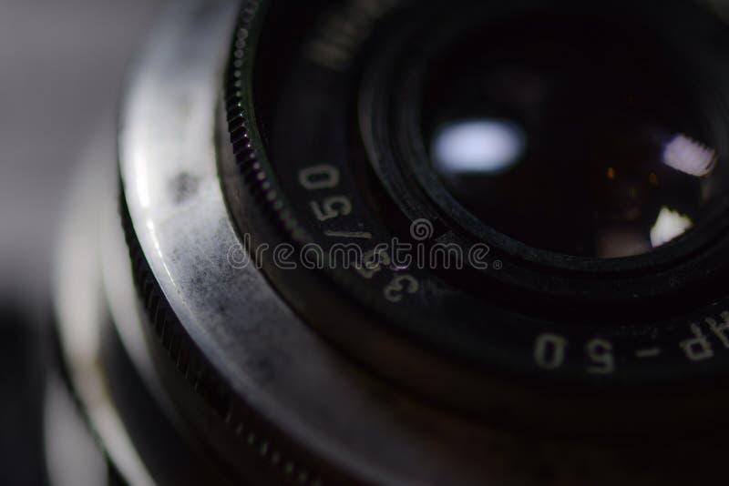 Uitstekende cameralens royalty-vrije stock foto