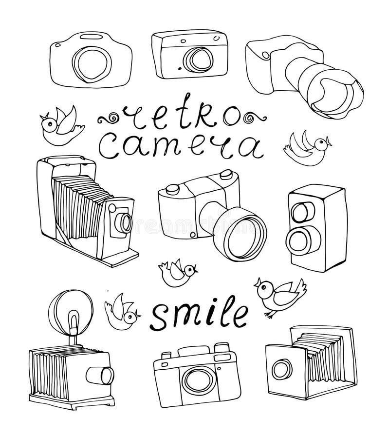 Uitstekende camerareeks royalty-vrije illustratie