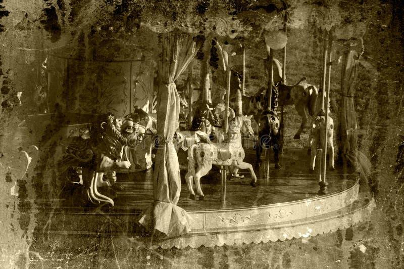 Uitstekende carrousel stock fotografie