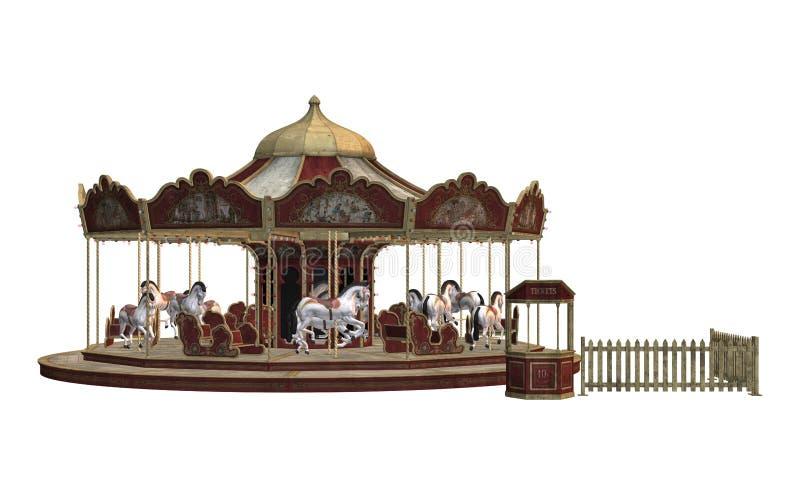 Uitstekende carrousel royalty-vrije illustratie