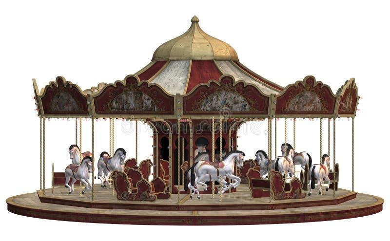 Uitstekende carrousel vector illustratie