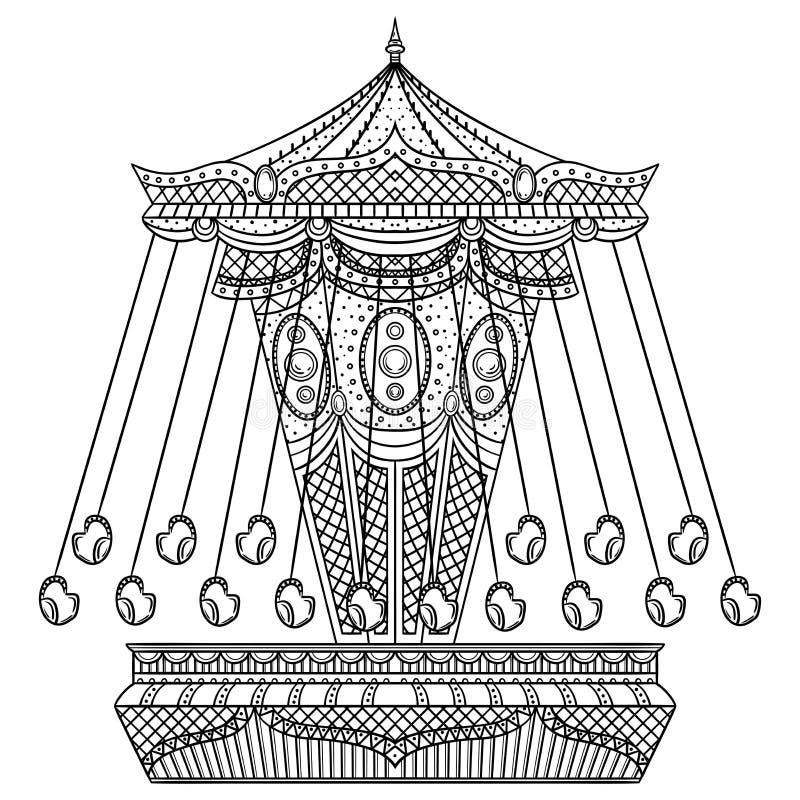 Uitstekende carrousel stock illustratie