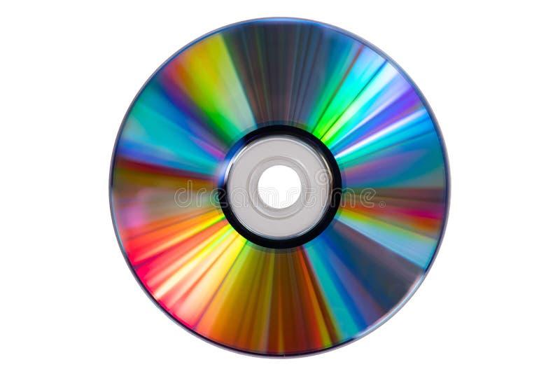 Uitstekende CD of DVD-schijf op witte achtergrond, het knippen weg Oude die cirkelschijven voor gegevensopslag, aandeelfilms en m stock afbeeldingen