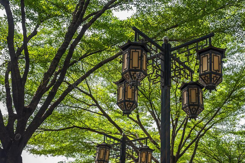 Uitstekende Chinese lantaarns royalty-vrije stock foto's