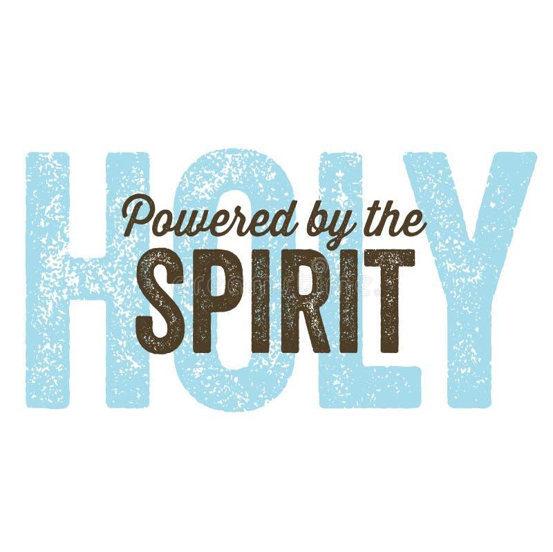 Uitstekende Christelijke ontwerpâ Geest vector illustratie