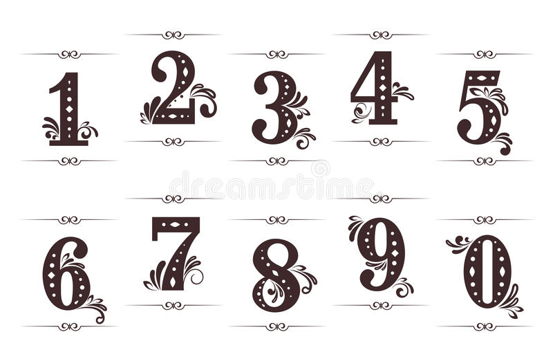 Uitstekende cijfers en aantallen royalty-vrije illustratie