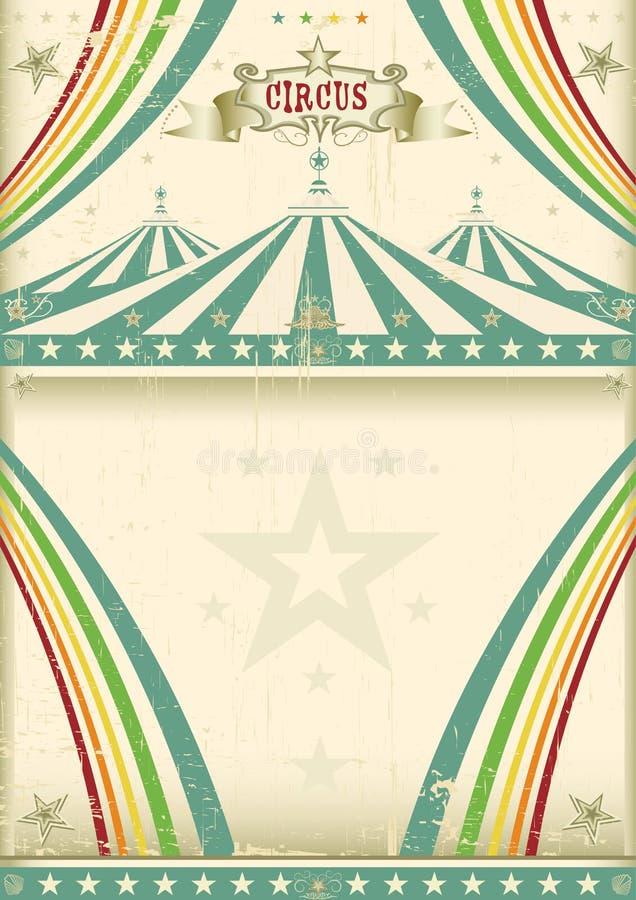 Uitstekende circusachtergrond vector illustratie