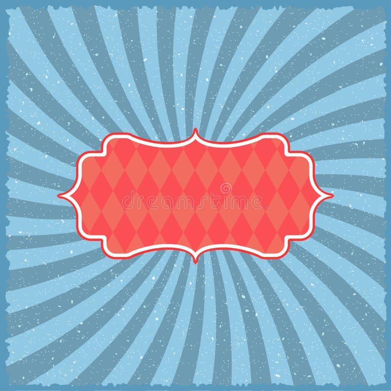 Uitstekende circusachtergrond Retro het Festivalzonnestraal van Stijlcarnaval vector illustratie