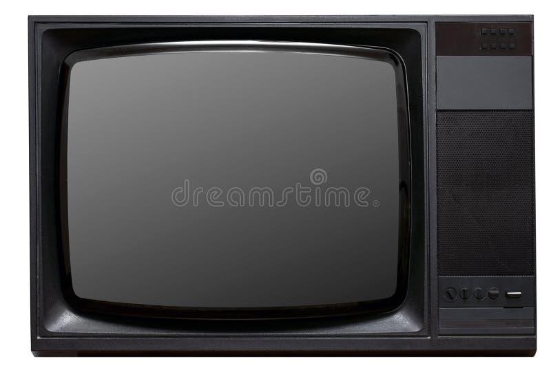 Uitstekende CRT TV royalty-vrije stock afbeelding