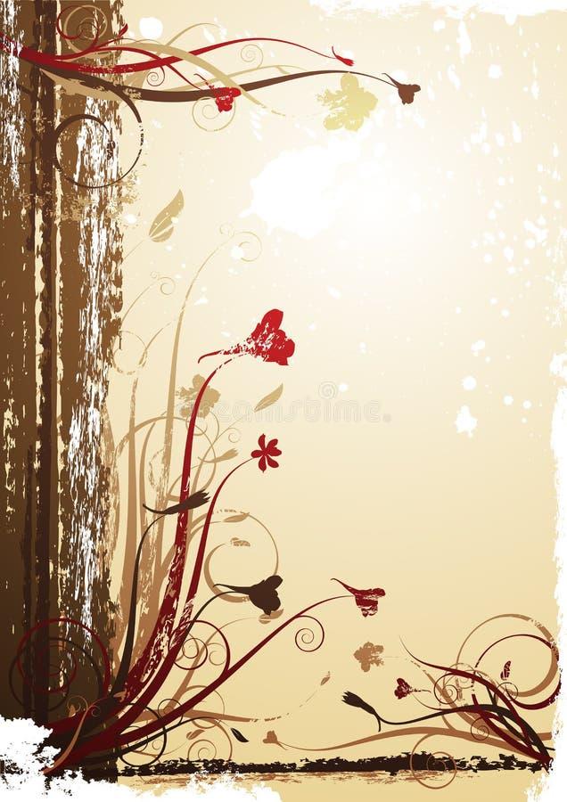 Uitstekende de herfstachtergrond stock illustratie