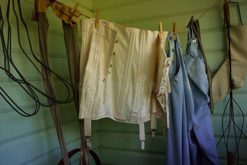 Uitstekende de kleurenversie van de vrouwen` s kleding stock afbeeldingen