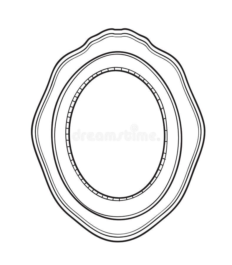 Uitstekende de kunst uitstekende vectorillustratie van de kaderhand getrokken lijn stock illustratie