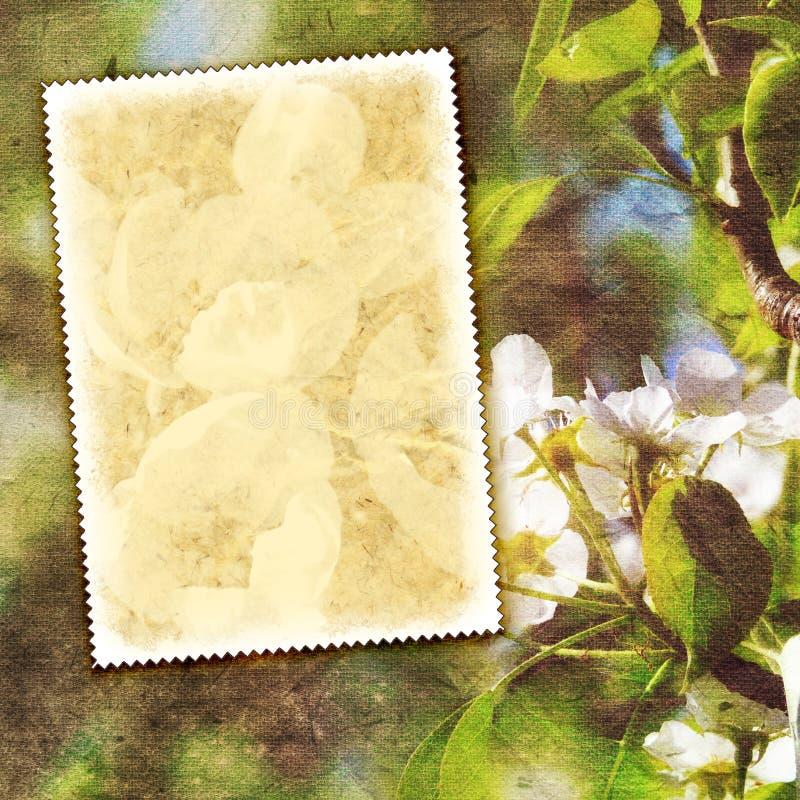 Uitstekende de lenteachtergrond stock afbeeldingen