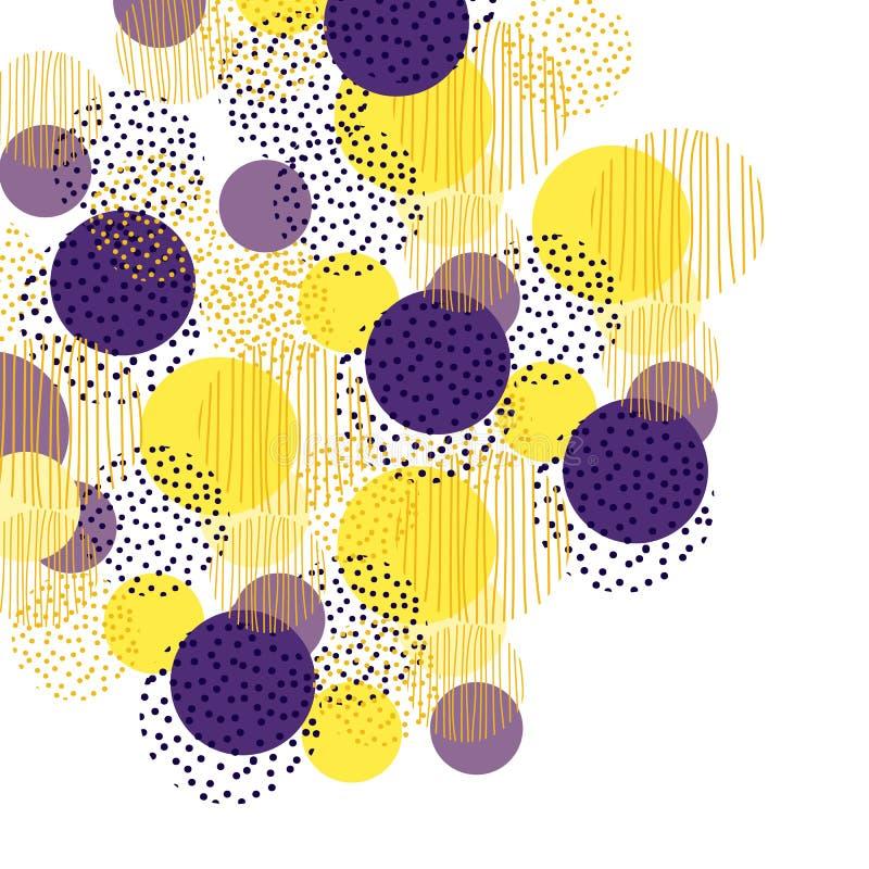 Uitstekende de meetkundeachtergrond van de stijlcirkel het ontwerp van de illustratieoppervlakte voor druk en Web vector illustratie