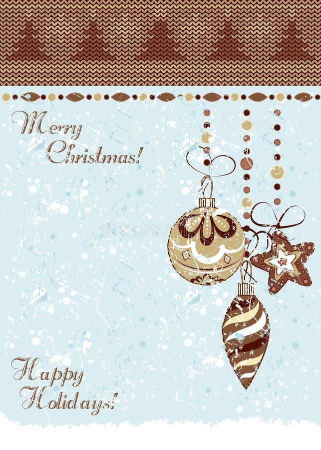 Uitstekende de snuisterijenachtergrond van Kerstmis royalty-vrije illustratie
