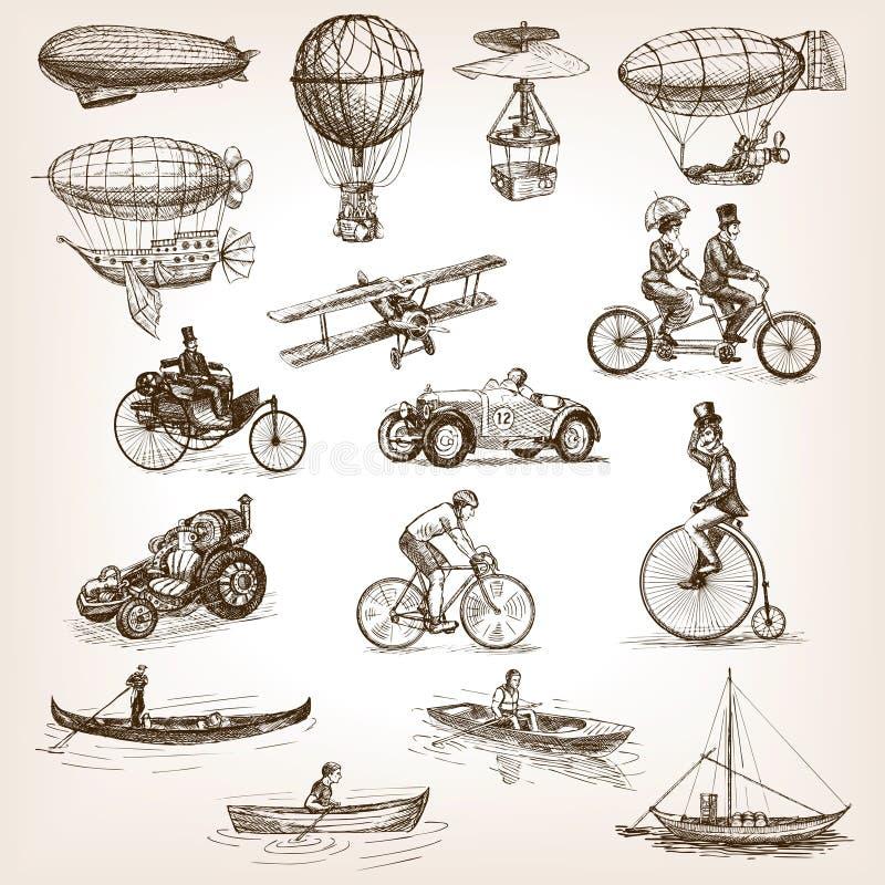 Uitstekende de stijlvector van de vervoer vastgestelde schets