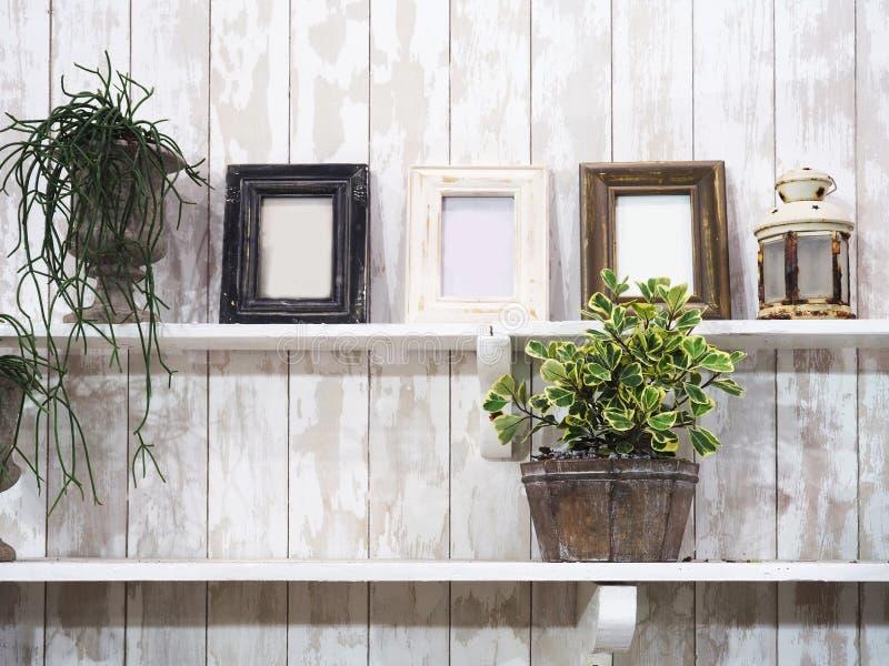 Uitstekende decoratie in woonkamer royalty-vrije stock foto