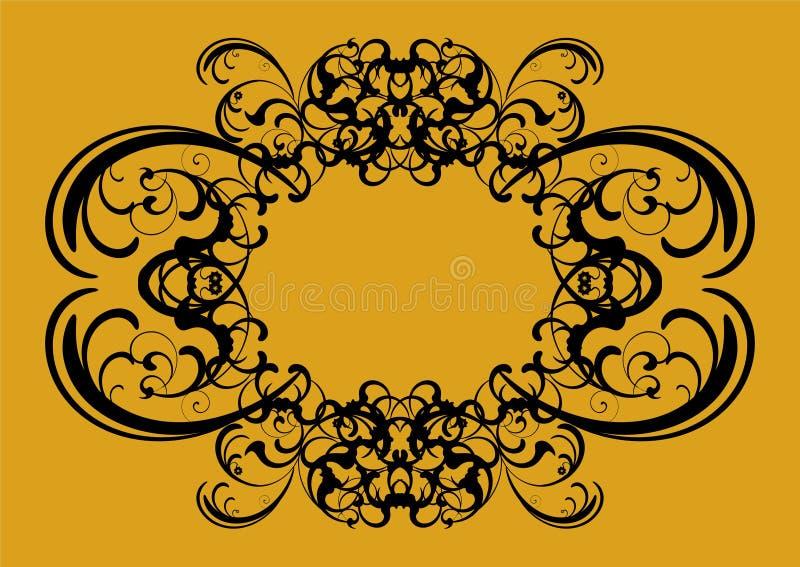 Uitstekende decoratie in zwarte met plaats voor uw tekst vector illustratie