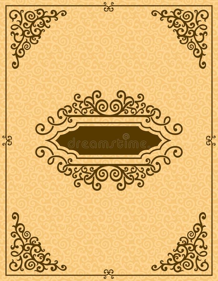 Uitstekende decoratieve achtergrond royalty-vrije illustratie