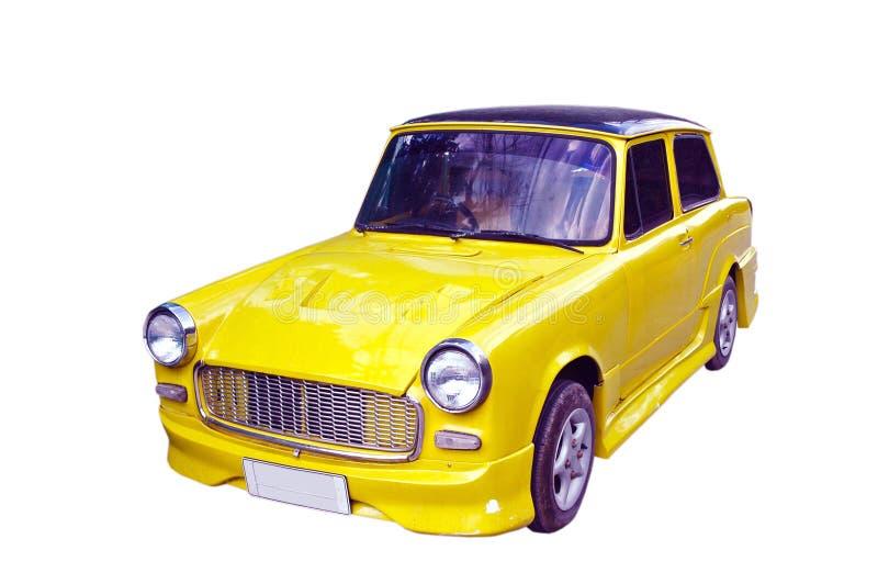 uitstekende die auto op witte achtergrond wordt geïsoleerd royalty-vrije stock afbeelding