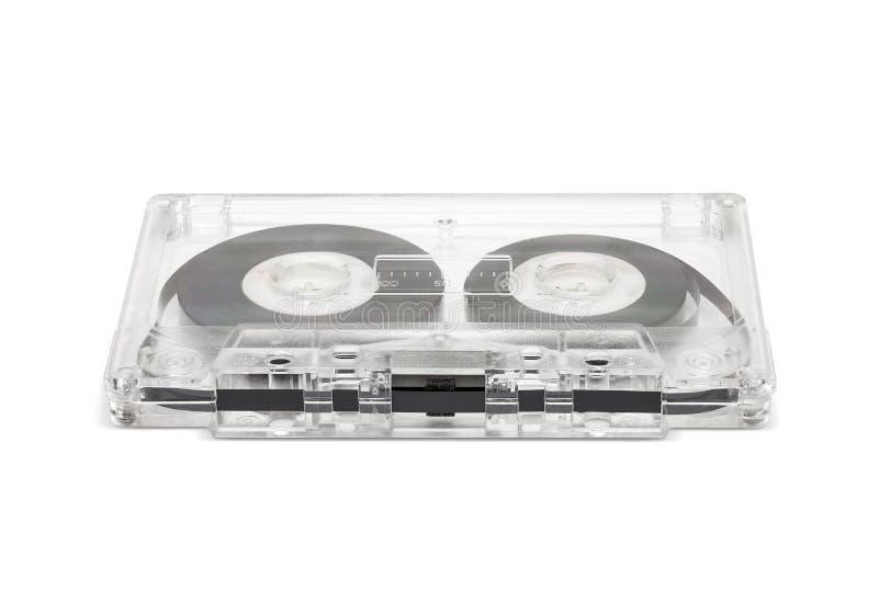 Uitstekende die cassetteband op witte achtergrond wordt geïsoleerd stock afbeelding