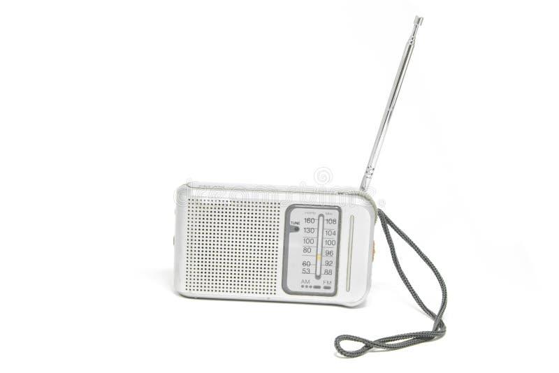 Uitstekende die Transistorradio op Witte Achtergrond wordt geïsoleerd royalty-vrije stock foto's