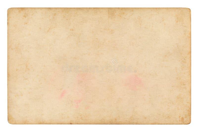 Uitstekende document geïsoleerde achtergrond stock fotografie