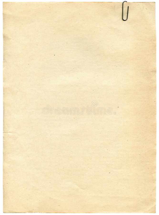 Uitstekende document textuur met klem aan achtergrond stock fotografie