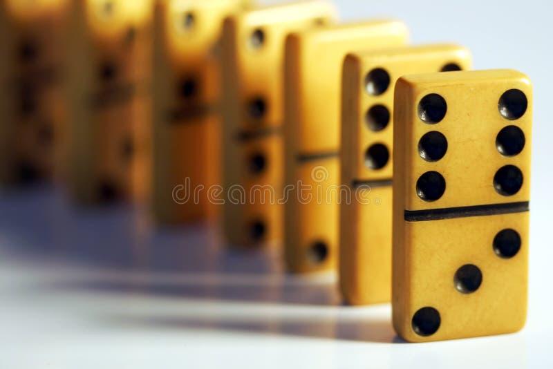 Uitstekende Domino's royalty-vrije stock foto
