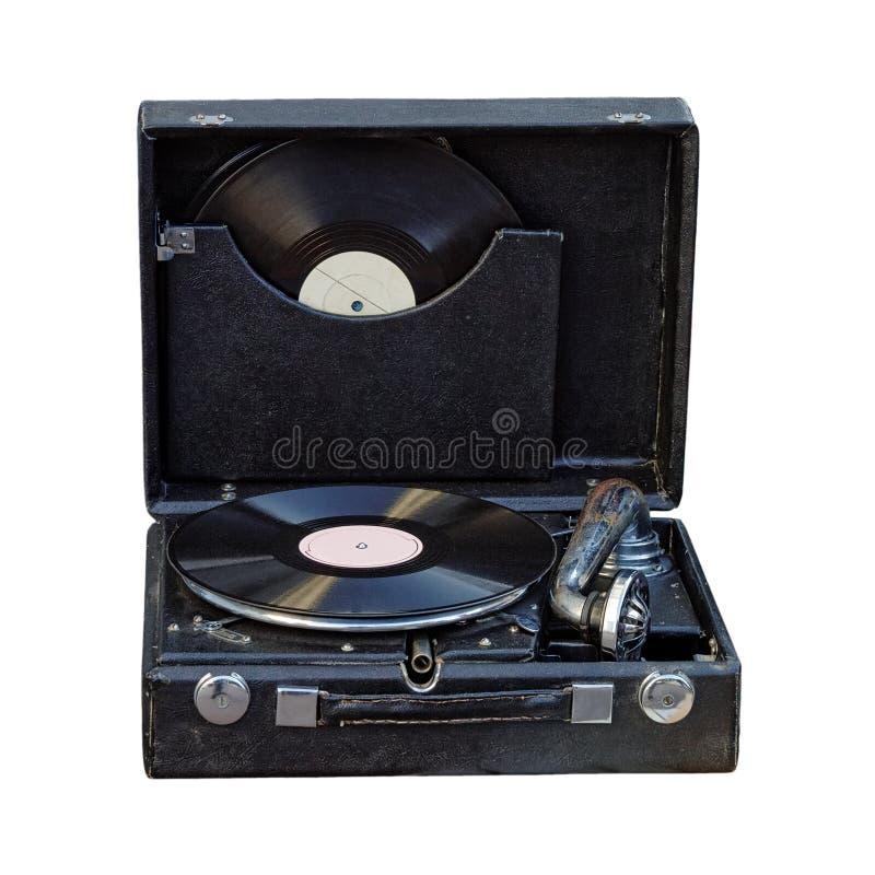 Uitstekende draagbare grammofoon stock fotografie