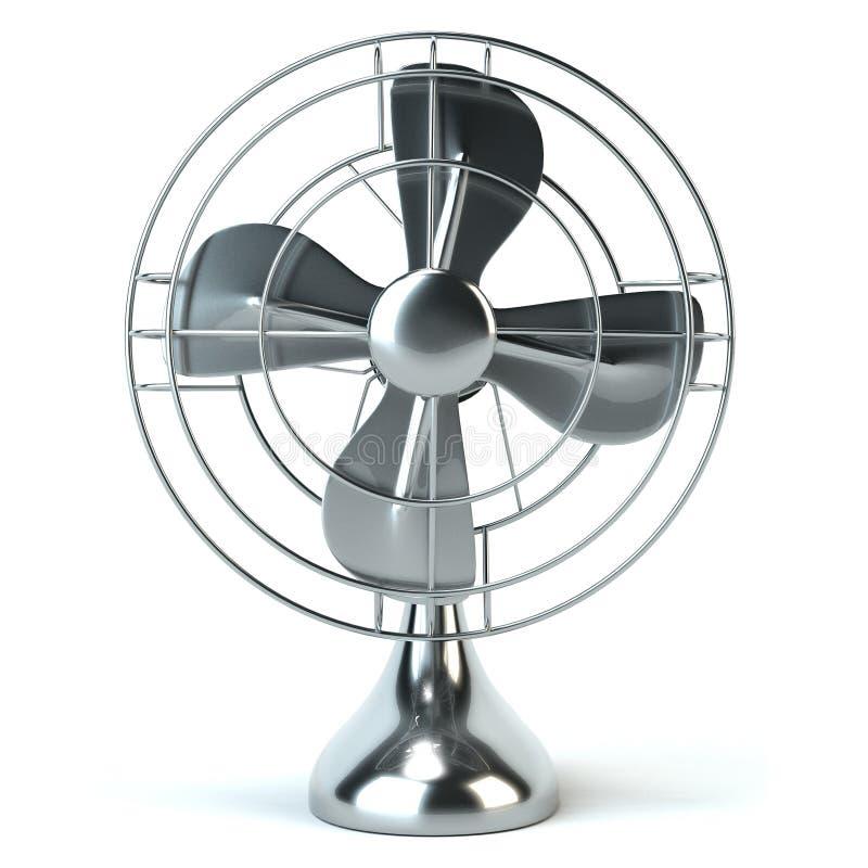 Uitstekende elektrische die ventilator op witte achtergrond wordt geïsoleerd royalty-vrije stock foto's
