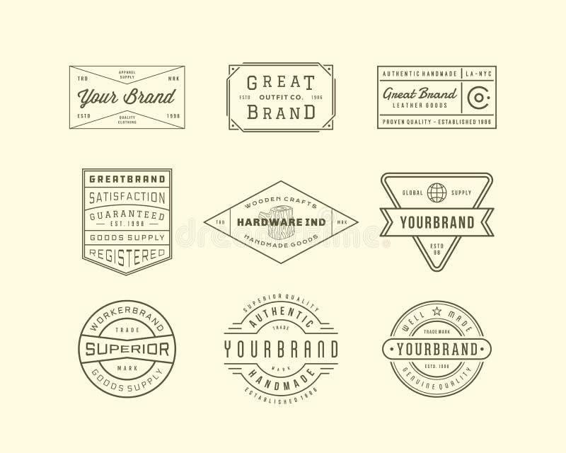 Uitstekende Embleem, Insignes en Kentekens 3 vector illustratie