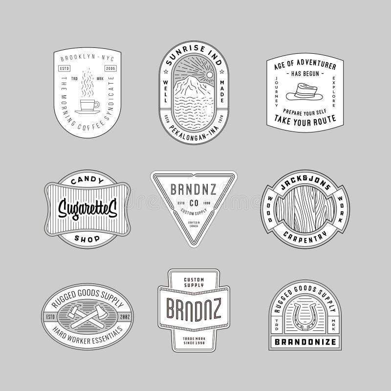 Uitstekende embleem, insignes & kentekens 6 stock illustratie