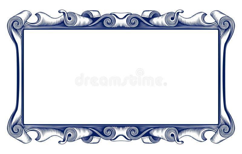 Uitstekende embleemgrens royalty-vrije illustratie