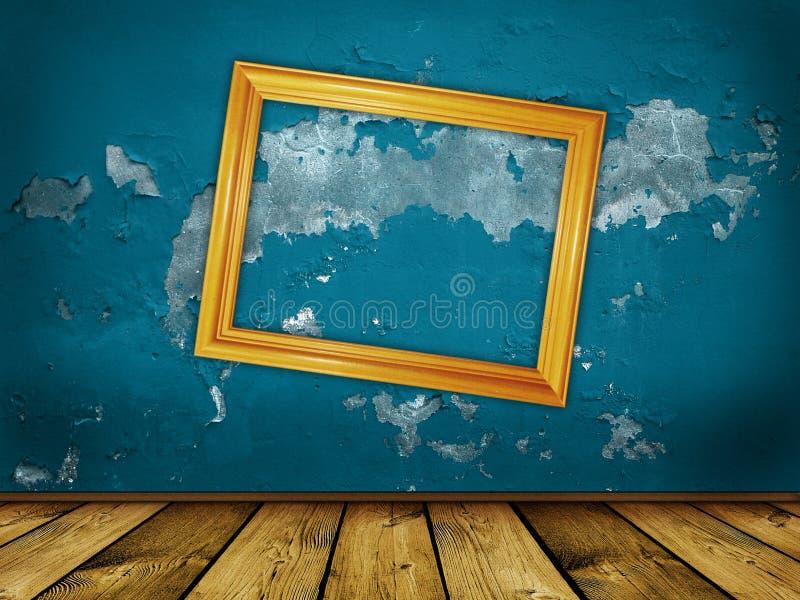 Uitstekende enge blauwe achtergrond stock foto