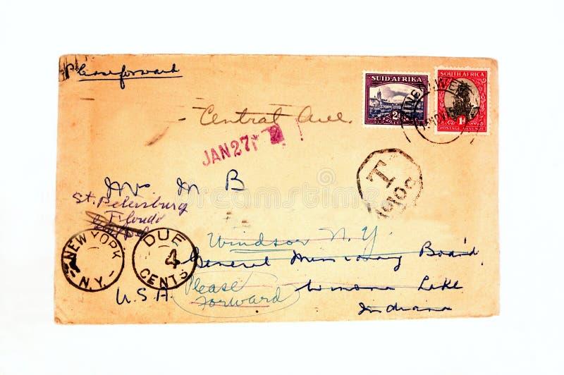 Uitstekende envelop royalty-vrije stock afbeelding