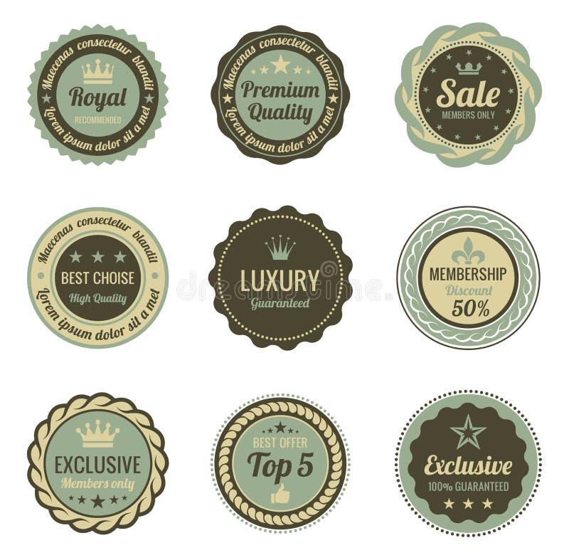 Uitstekende Etiketten. vector illustratie