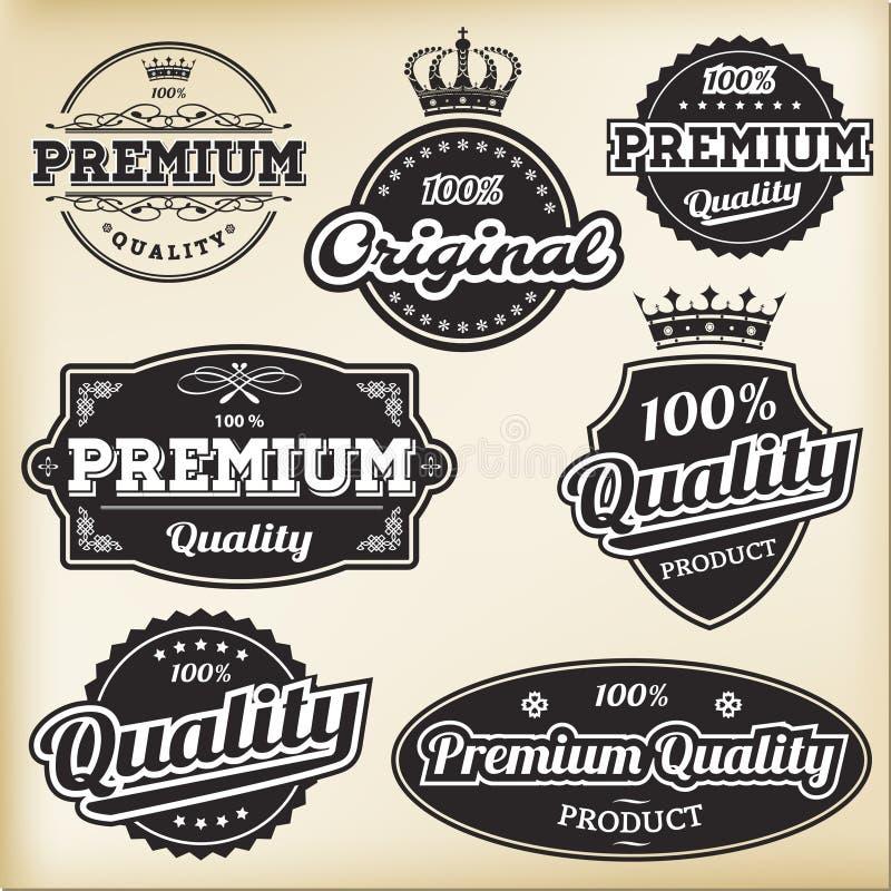 Uitstekende Etiketten stock illustratie