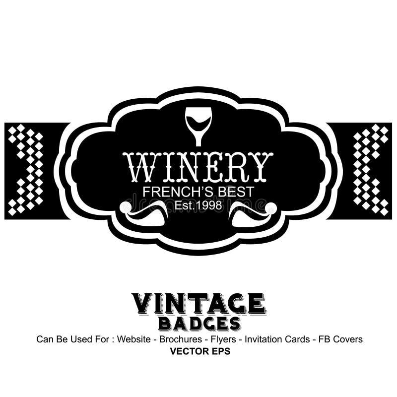 Uitstekende Etiketten - Wijn stock illustratie