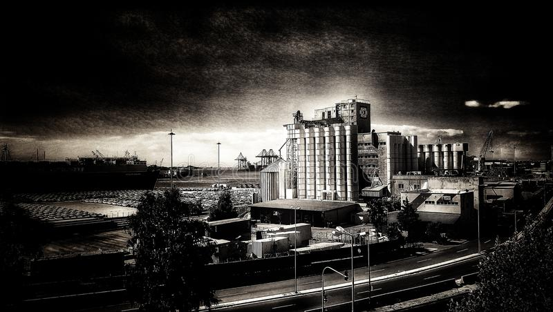 Uitstekende fabriek royalty-vrije stock afbeelding