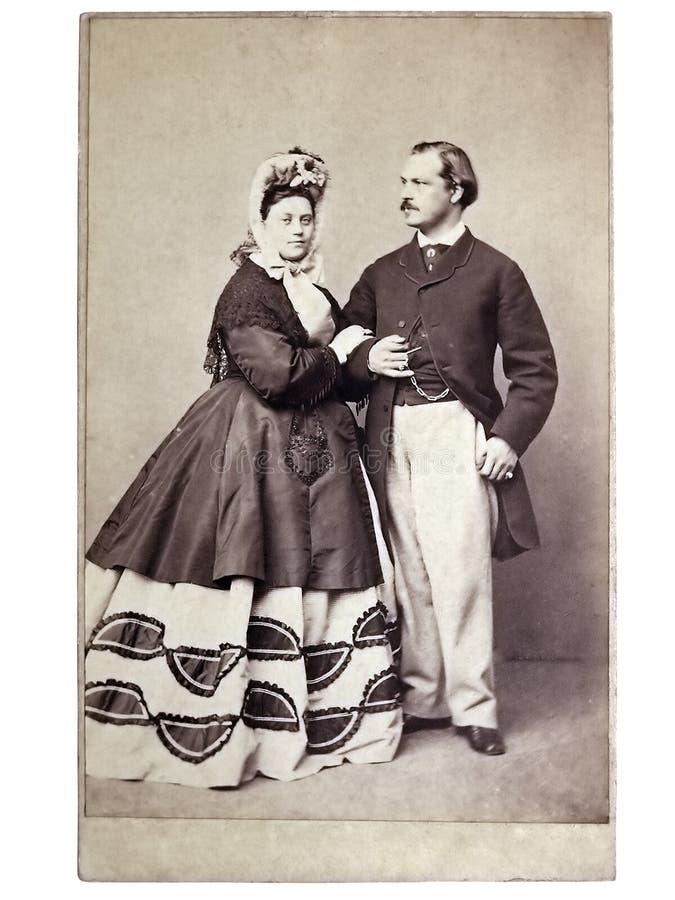Uitstekende familiefoto's royalty-vrije stock fotografie