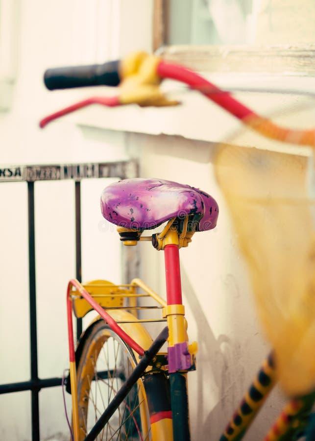 Uitstekende fiets in Parijs royalty-vrije stock foto's