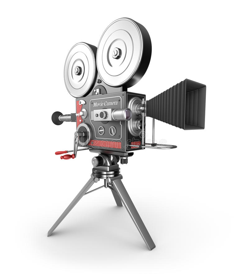 Uitstekende filmcamera vector illustratie