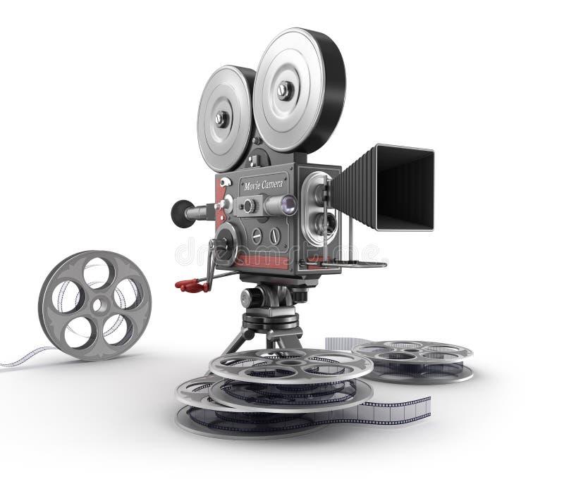 Uitstekende Filmcamera en Film royalty-vrije illustratie