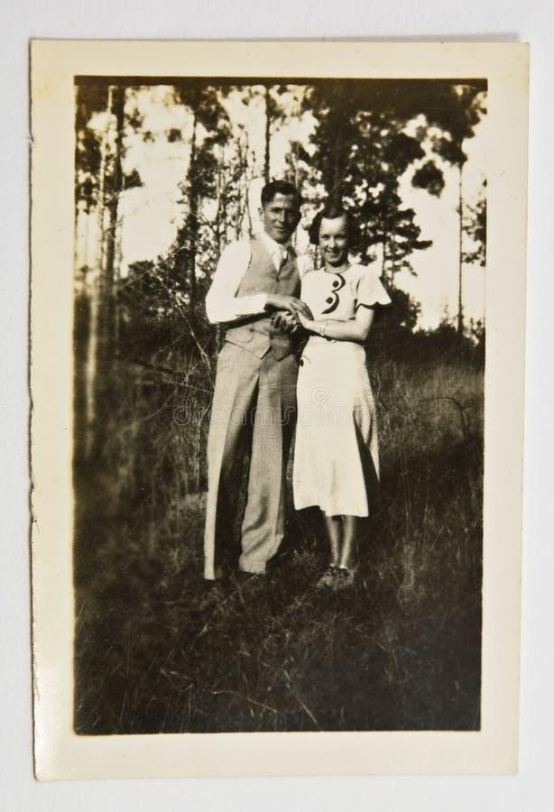 Uitstekende Foto van een Paar royalty-vrije stock afbeelding