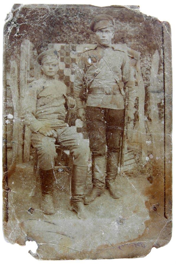 Uitstekende foto van militairen royalty-vrije stock afbeeldingen