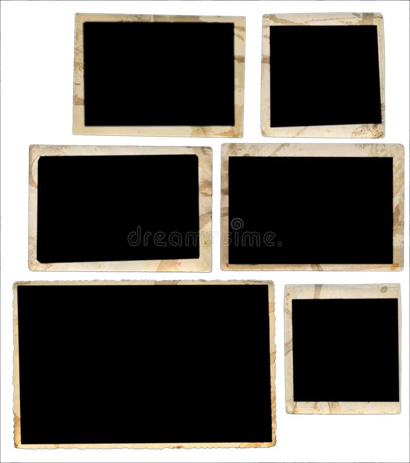 Uitstekende fotoframes stock afbeelding
