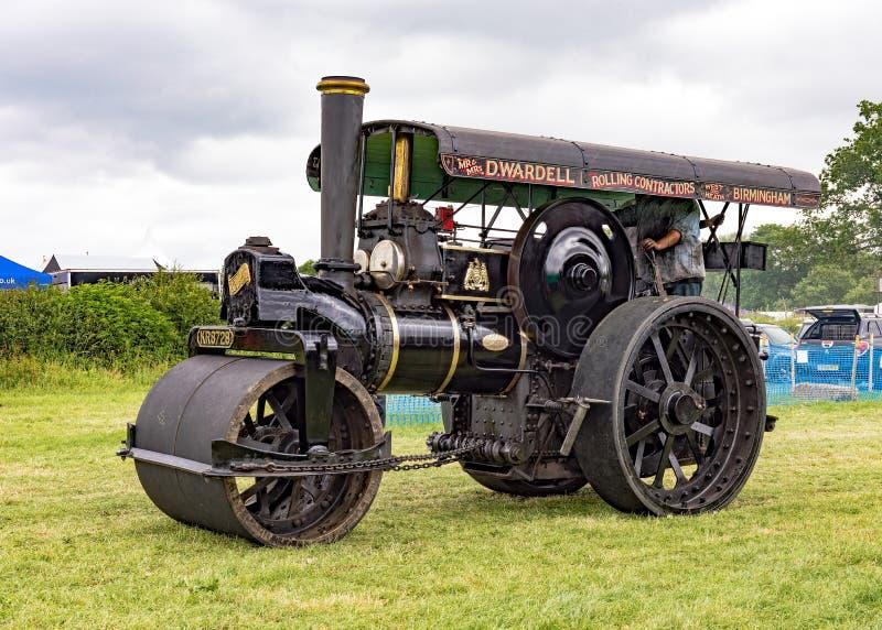 Uitstekende Fowler Steam Roller stock afbeelding