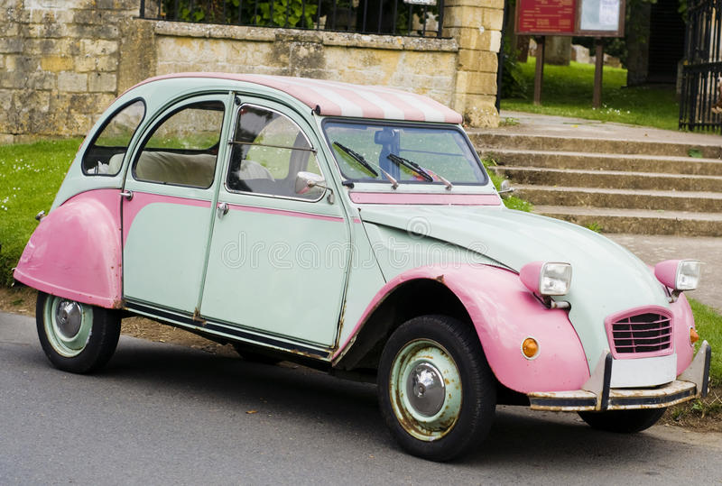 Uitstekende Franse auto royalty-vrije stock foto's